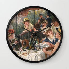 Luncheon of the Boating Party by Renoir Wall Clock