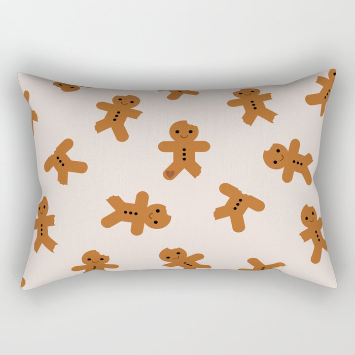 Gingerbread Men Rectangular Pillow