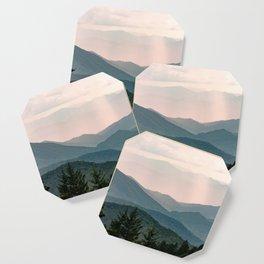Smoky Mountain Pastel Sunset Coaster