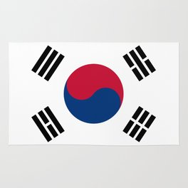 National flag of South Korea, officially the Republic of Korea, Authentic version - color and scale Rug