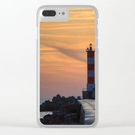 Light House at Port la Nouvelle South France Clear iPhone Case