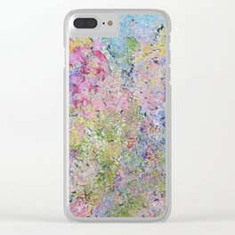 Spring Hydrangeas, Pastel Abstract, Modern Painting Clear iPhone Case