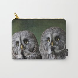 Great Grey Owls Carry-All Pouch