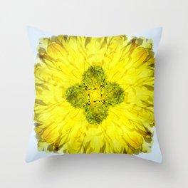 kaleidoscope - Flower Throw Pillow