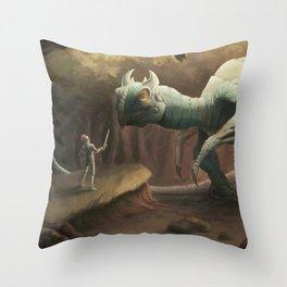 Unamused Throw Pillow