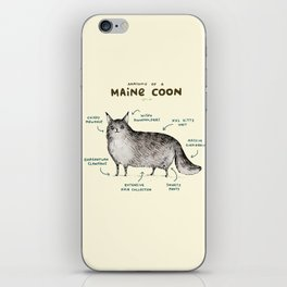 Anatomy of a Maine Coon iPhone Skin
