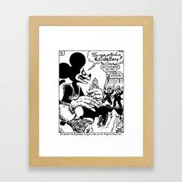 Nightmare the Rat - Rathunt panel Framed Art Print