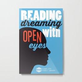 Open Eyes - Iowa City Public Library Metal Print