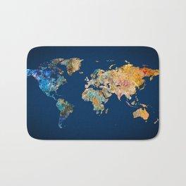 World Map 11 Bath Mat