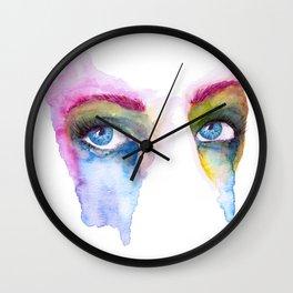 Rainbow Eyes Wall Clock