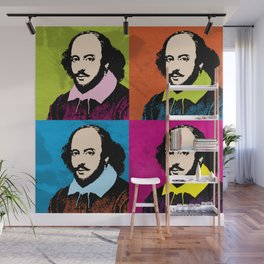 WILLIAM SHAKESPEARE (4-UP POP ART COLLAGE) Wall Mural