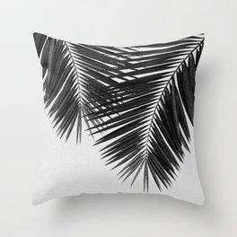 Palm Leaf Black & White II Throw Pillow