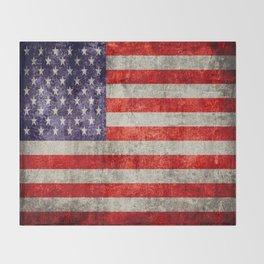 Antique American Flag Throw Blanket
