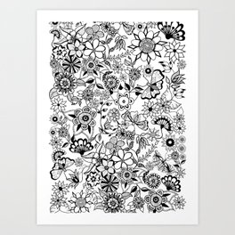 secret flowers Art Print