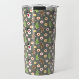 Holiday Cookies on a Beat Up Cookie Sheet Travel Mug