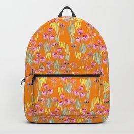 Tulips in orange Backpack