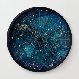 Star Map :: City Lights Wall Clock