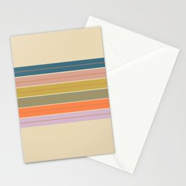 Pastel Stripes Stationery Cards