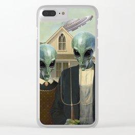 American Alien/Alien Gothic Clear iPhone Case