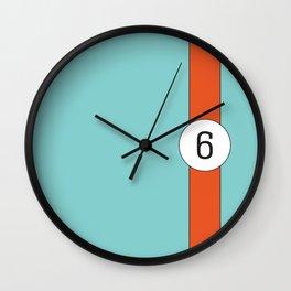 racing stripe .. #6 Wall Clock