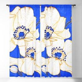 Ultramarine Blue :: Anemones Blackout Curtain