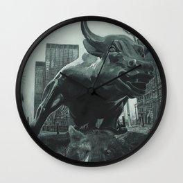 Triumph of the Bull Wall Clock