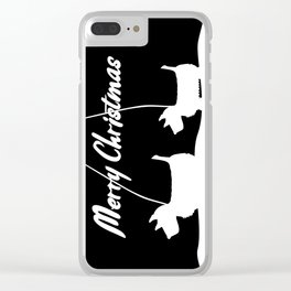Westie White Christmas Clear iPhone Case