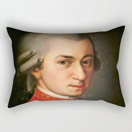 Wolfgang Amadeus Mozart (1756 -1791) by Barbara Krafft (1819) Rectangular Pillow