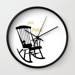 You rock - rockingchair Wall Clock