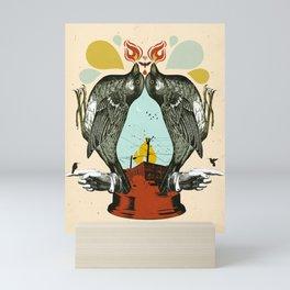 INDUSTRIAL BIRD LANTERN Mini Art Print