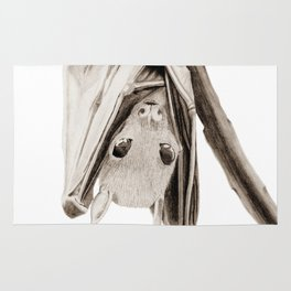 Tiny Fruit Bat Rug
