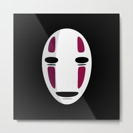 No Face Metal Print
