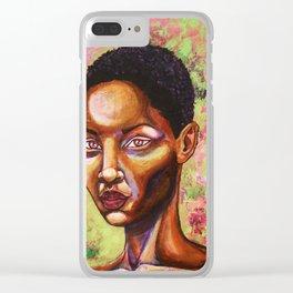Melanin Goddess 2 Clear iPhone Case