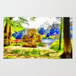 A lakeside view Rug
