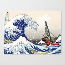 Legend of Zelda Great Wave Windwaker - the great wave off kanagawa Canvas Print