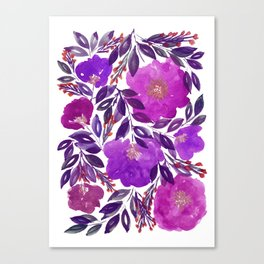 hand painted flowers_3b Canvas Print