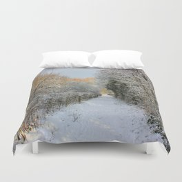 Winter Walkway Duvet Cover