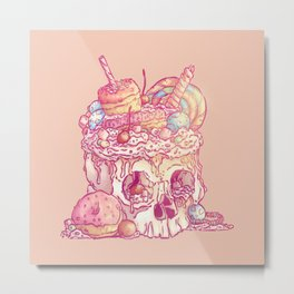 Skull No.3 // The Yummy One Metal Print