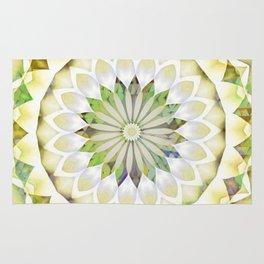 Flower Patchwork Kaleidoscope Lemon Yellow Rug