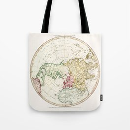 Northern Hemisphere- reproduction of William Faden's 1790 engraving Tote Bag