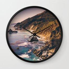 Big Sur Pacific Coast Highway Wall Clock