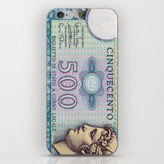 500 lire money note  iPhone & iPod Skin