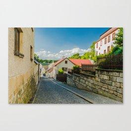 A street in Turnov Canvas Print