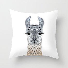 BABY LAMA (CRIA) Throw Pillow