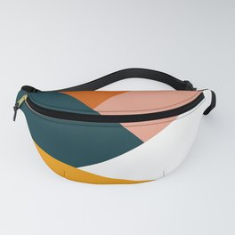 Colorful geometric design in orange & yellow Fanny Pack