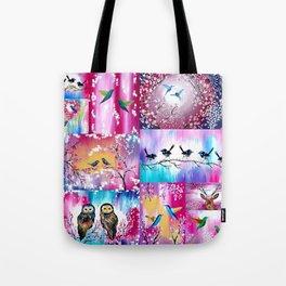 Pink collage Tote Bag