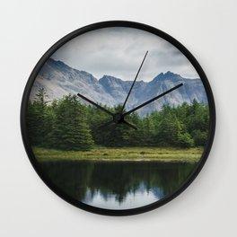 Cuillin Ridge - Isle of Skye, Scotland Wall Clock