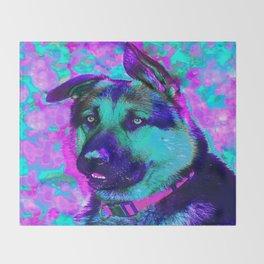 Artistic Dog Expression Throw Blanket