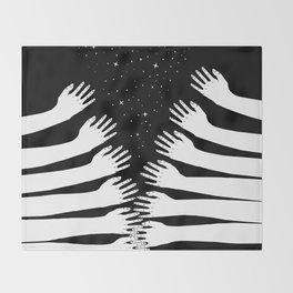 Zipper hand Throw Blanket