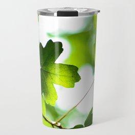 Green Maple Leaves Travel Mug